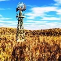 乡村里的风车